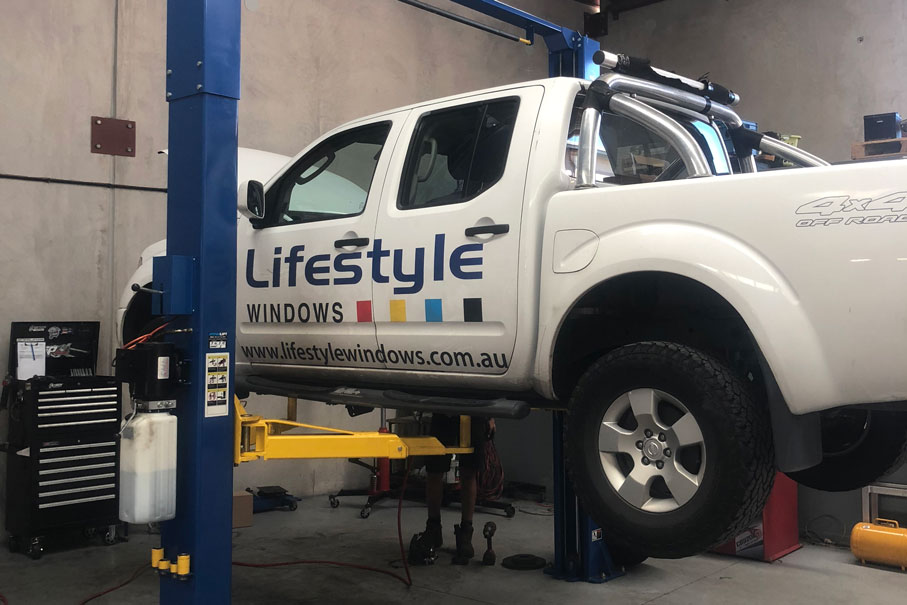 4x4 Company Vehicle getting serviced